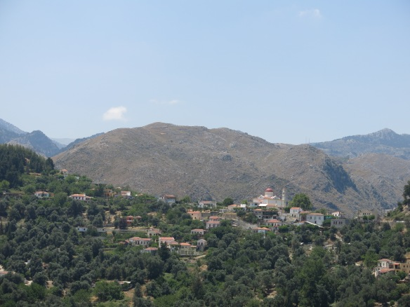 Town of Lakki, perched on a ridge among the White Mountains of south-central Crete. The mountains were a haven for Cretan guerillas fighting first Turks then Nazis
